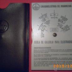 Antigüedades: REGLA DE CALCULO PARA ELECTRICISTAS-ENHER-E.N. HIDROELECTRICA DEL RIBAGORZANA S.A.- VER FOTOS ADJUNT. Lote 53248254