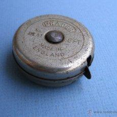 Antigüedades: METRO METALICO DRAPER Nº112, 6FT (1,80M APROX) , FABRCADO EN INGLATERRA, FUNCIONANDO (EN PULGADAS). Lote 53256688