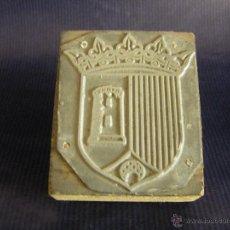 Antigüedades: TACO O SELLO DE IMPRENTA ESCUDO DE PATERNA VALENCIA MITAD SIGLO XX. Lote 53284178