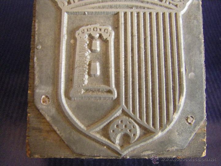 Antigüedades: Taco o sello de imprenta escudo de Paterna Valencia mitad siglo XX - Foto 3 - 53284178