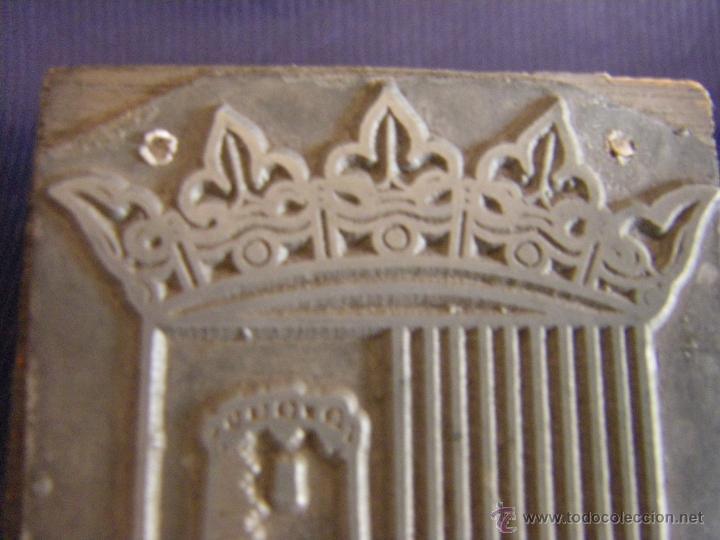 Antigüedades: Taco o sello de imprenta escudo de Paterna Valencia mitad siglo XX - Foto 4 - 53284178