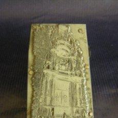 Antigüedades: TACO O SELLO DE IMPRENTA DE LA PORTADA DE LA IGLESIA ABADÍA SAN MARTÍN DE VALENCIA MITAD SIGLO XX. Lote 53284327