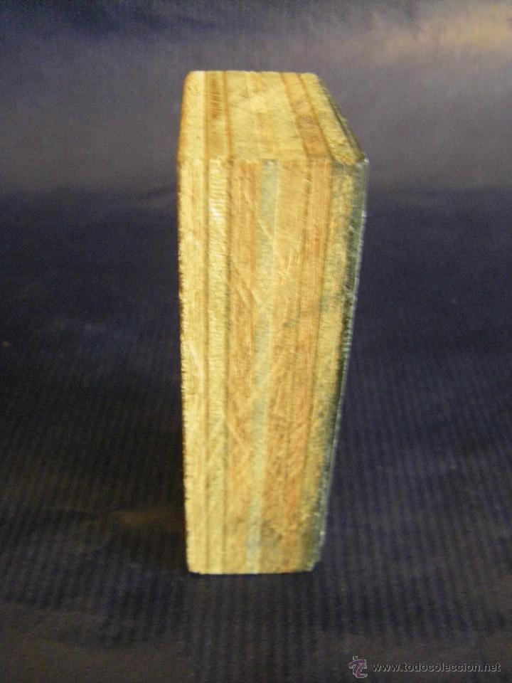 Antigüedades: Taco o sello de imprenta de la portada de la Iglesia Abadía San Martín de Valencia mitad siglo XX - Foto 5 - 53284327