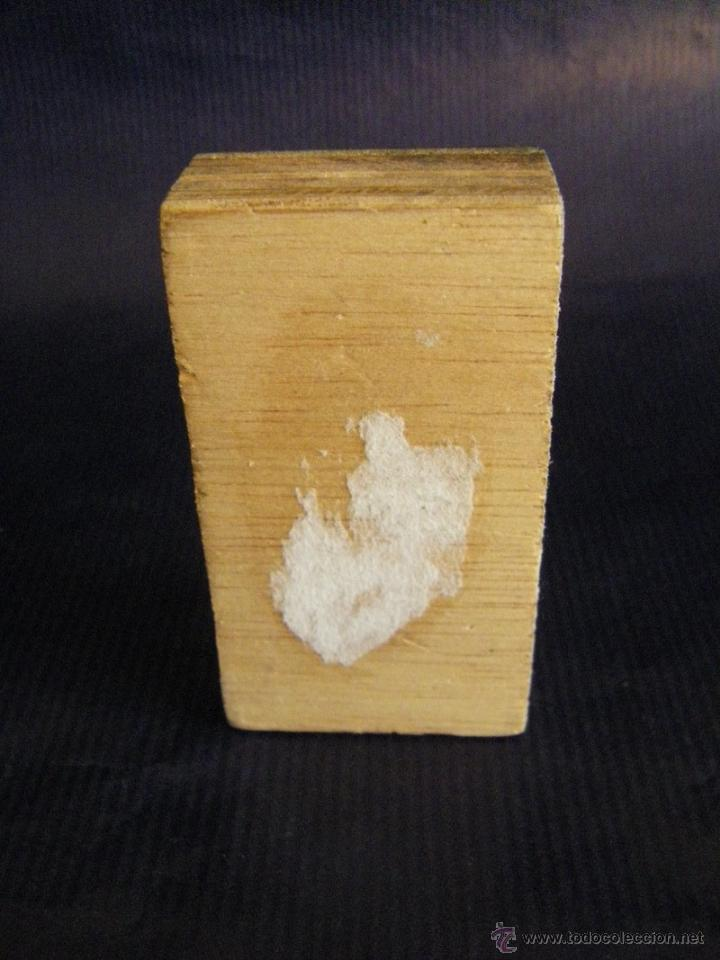 Antigüedades: Taco o sello de imprenta de la portada de la Iglesia Abadía San Martín de Valencia mitad siglo XX - Foto 6 - 53284327
