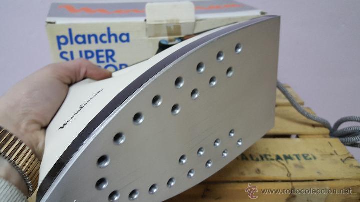 Antigüedades: plancha super vapor, de moulinex, vintage! NUEVA Y CON SU CAJA ORIGINAL - Foto 3 - 82307351