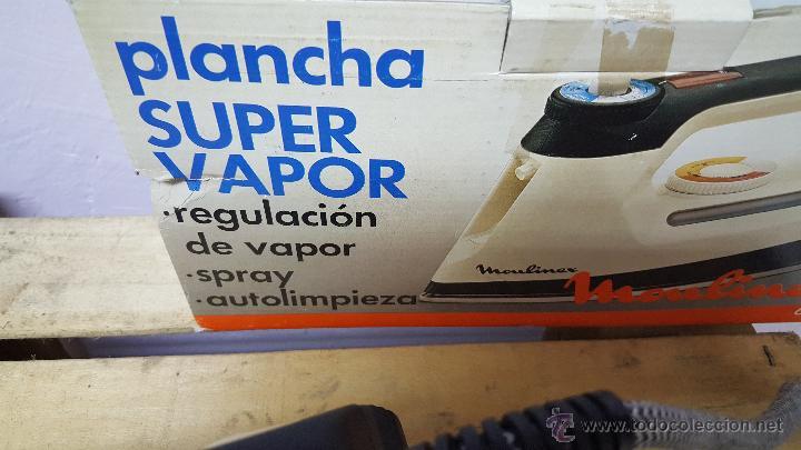 Antigüedades: plancha super vapor, de moulinex, vintage! NUEVA Y CON SU CAJA ORIGINAL - Foto 4 - 82307351