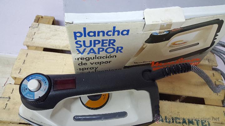 Antigüedades: plancha super vapor, de moulinex, vintage! NUEVA Y CON SU CAJA ORIGINAL - Foto 5 - 82307351