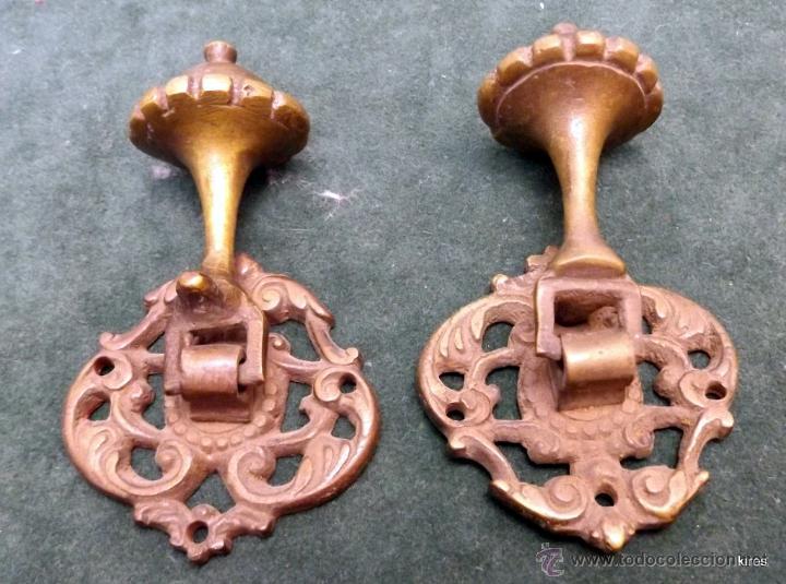 Antigüedades: TIRADORES BRONCE - Foto 2 - 53330052
