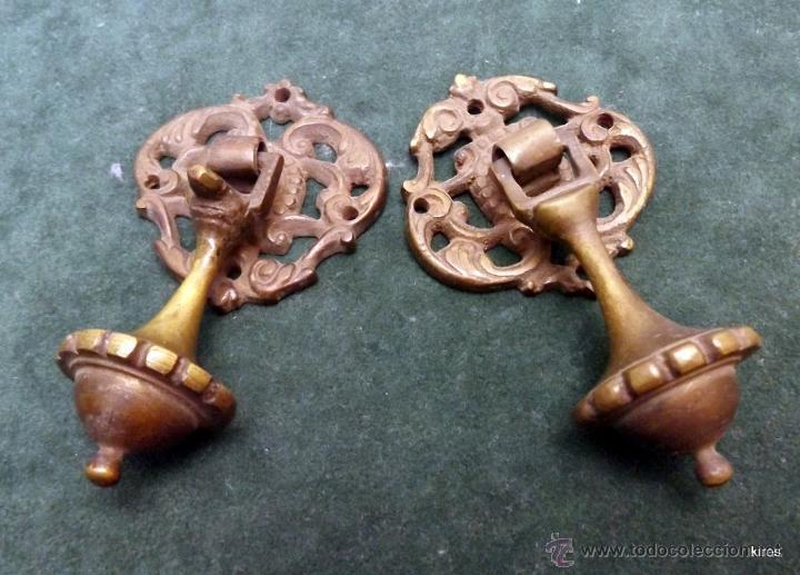 Antigüedades: TIRADORES BRONCE - Foto 3 - 53330052