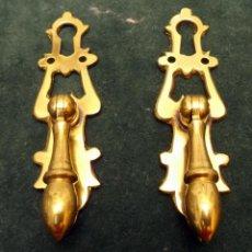 Antigüedades: TIRADORES CON BOCALLAVES. Lote 53330195