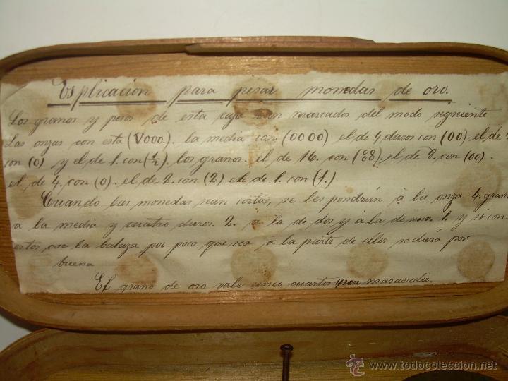 Antigüedades: MUY ANTIGUA Y RARA BALANZA DE HIERRO FORJADO Y CAJA ORIGINAL...LLEVA INSCRITO...MIAS - FRS. - Foto 12 - 53341519