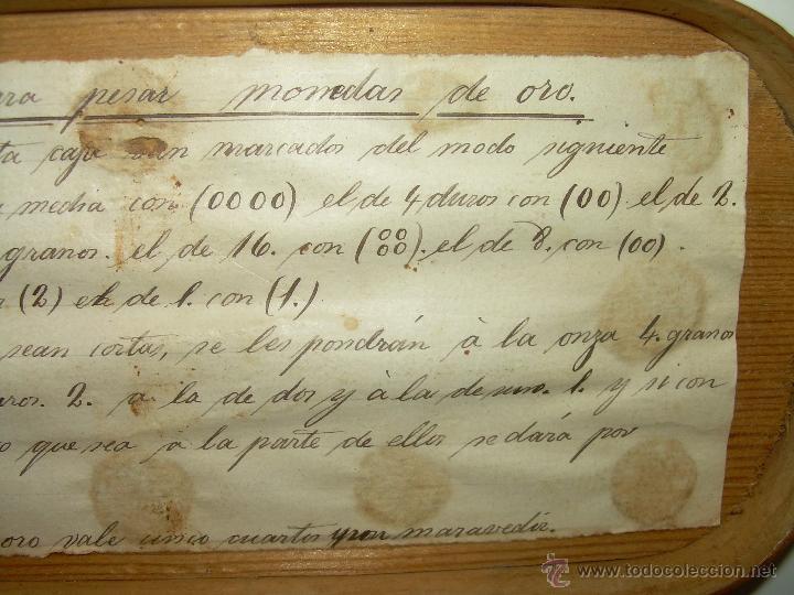 Antigüedades: MUY ANTIGUA Y RARA BALANZA DE HIERRO FORJADO Y CAJA ORIGINAL...LLEVA INSCRITO...MIAS - FRS. - Foto 14 - 53341519