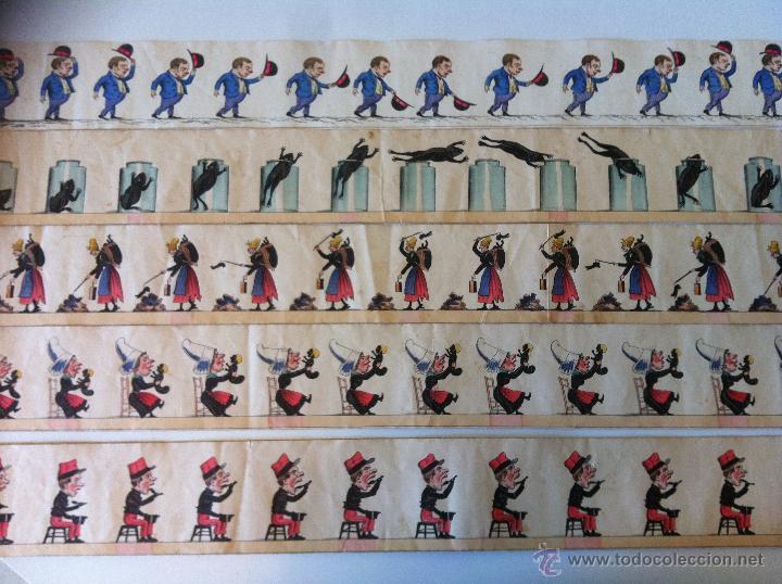 Antigüedades: ZOOTROPO – ZOETROPE - LES IMAGES VIVANTES TABLEAUX ANIMES - PARIS SEGUNDA MITAD SIGLO XIX - Foto 22 - 53390063