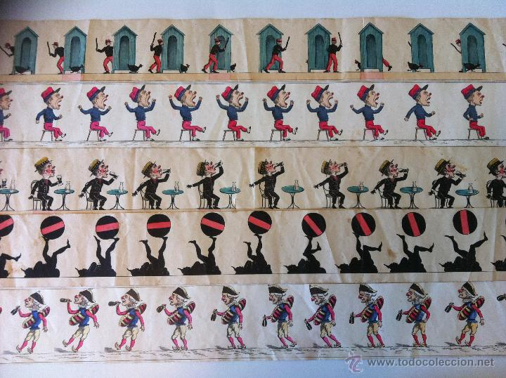 Antigüedades: ZOOTROPO – ZOETROPE - LES IMAGES VIVANTES TABLEAUX ANIMES - PARIS SEGUNDA MITAD SIGLO XIX - Foto 23 - 53390063