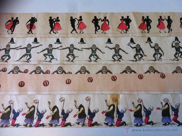 Antigüedades: ZOOTROPO – ZOETROPE - LES IMAGES VIVANTES TABLEAUX ANIMES - PARIS SEGUNDA MITAD SIGLO XIX - Foto 24 - 53390063
