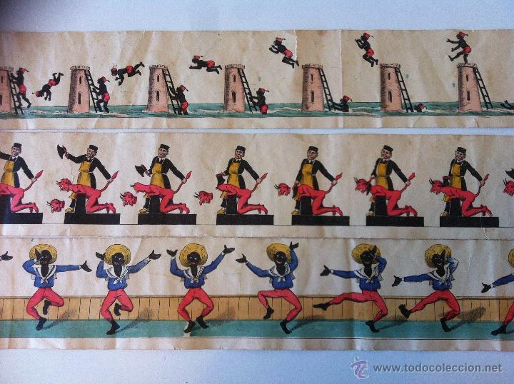 Antigüedades: ZOOTROPO – ZOETROPE - LES IMAGES VIVANTES TABLEAUX ANIMES - PARIS SEGUNDA MITAD SIGLO XIX - Foto 25 - 53390063