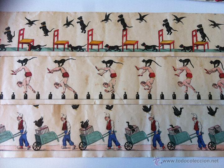 Antigüedades: ZOOTROPO – ZOETROPE - LES IMAGES VIVANTES TABLEAUX ANIMES - PARIS SEGUNDA MITAD SIGLO XIX - Foto 26 - 53390063