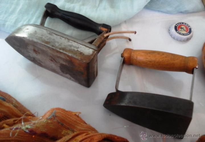 Antigüedades: PAREJA DE PLANCHAS ALEMANAS. PEQUEÑO TAMAÑO. ORIGINALES: - Foto 2 - 53394601