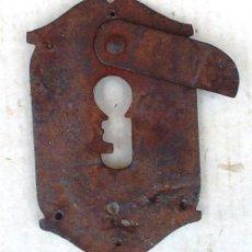 Antiquités: BOCALLAVE HIERRO DE CERRADURA ANTIGUA POR TRAMPILLA. Lote 53424964