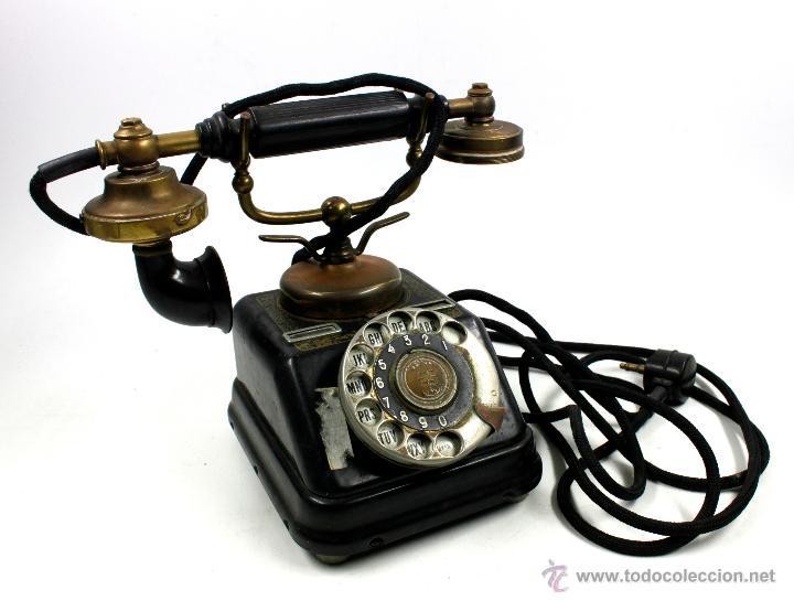 TELÉFONO ANTIGUO AKTIESELSKAB DENMARK COPENHAGEN, VER FOTOS ANEXAS. (Antigüedades - Técnicas - Teléfonos Antiguos)