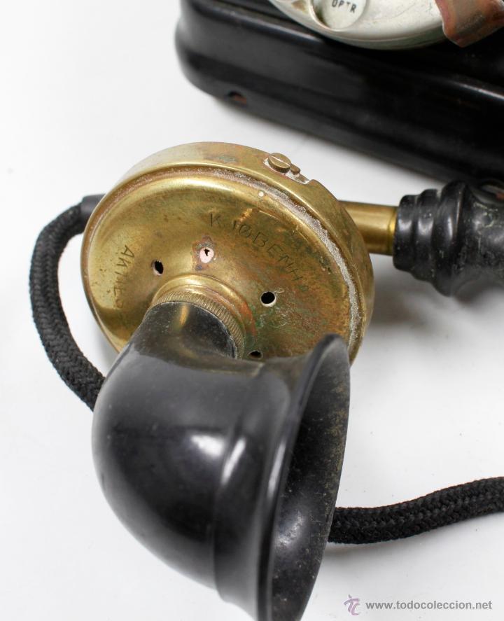 Teléfonos: Teléfono antiguo Aktieselskab Denmark Copenhagen, ver fotos anexas. - Foto 4 - 53429052