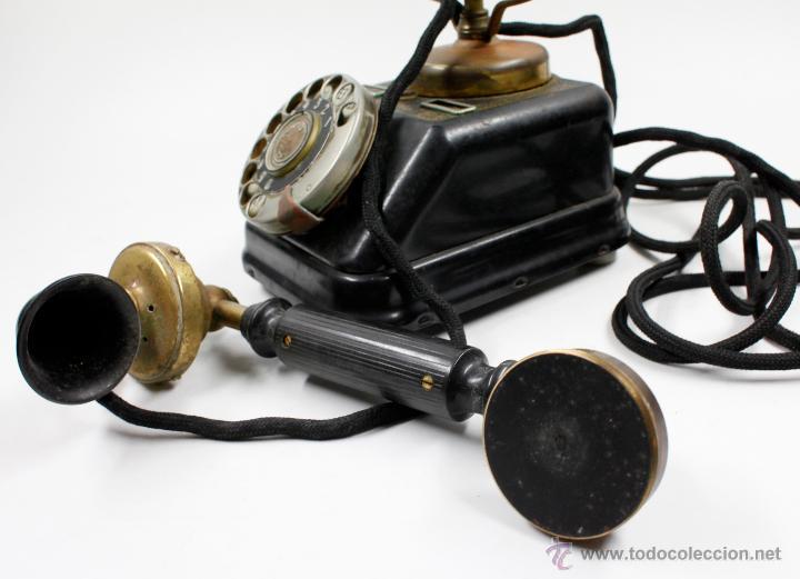 Teléfonos: Teléfono antiguo Aktieselskab Denmark Copenhagen, ver fotos anexas. - Foto 5 - 53429052
