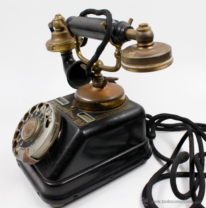 Teléfonos: Teléfono antiguo Aktieselskab Denmark Copenhagen, ver fotos anexas. - Foto 6 - 53429052