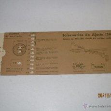 Oggetti Antichi: REGLILLA CALCULADORA Nº 7 - TOLERANCIAS DE AJUSTE ISA EDITORIAL VAGMA SISTEMA DE AGUJERO ÚNICO H8. Lote 272147613