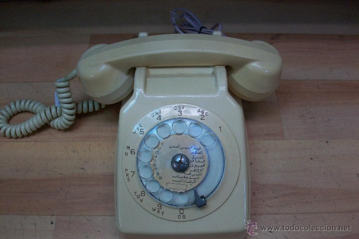 ANTIGUO TELEFONO FRANCES UTILIZADO EN ARGELIA-FUNCIONA (Antigüedades - Técnicas - Teléfonos Antiguos)