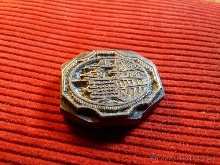 Antigüedades: ANTIGUO TAMPON SELLO TIPOGRAFICO IMPRENTA ..COMARCAS TARRAGONA..ESCUDO DE ....????? - Foto 3 - 53488053