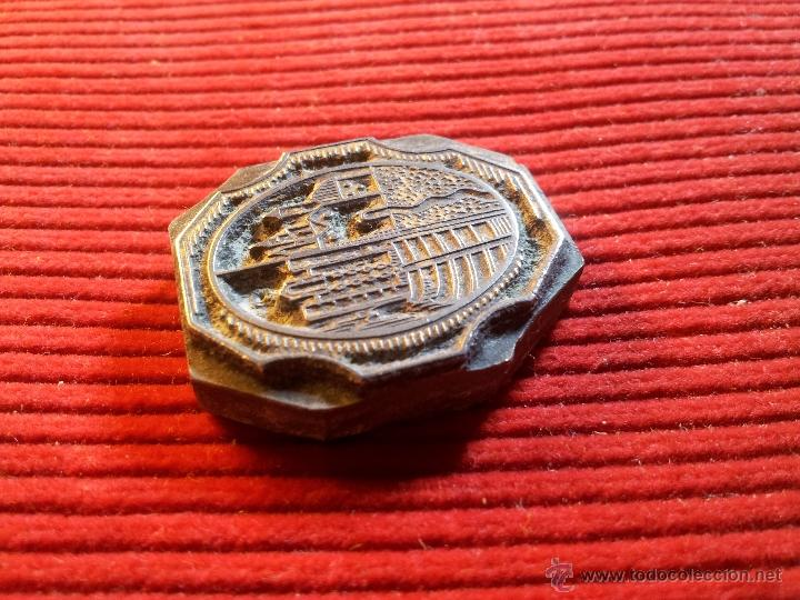 Antigüedades: ANTIGUO TAMPON SELLO TIPOGRAFICO IMPRENTA ..COMARCAS TARRAGONA..ESCUDO DE ....????? - Foto 5 - 53488053