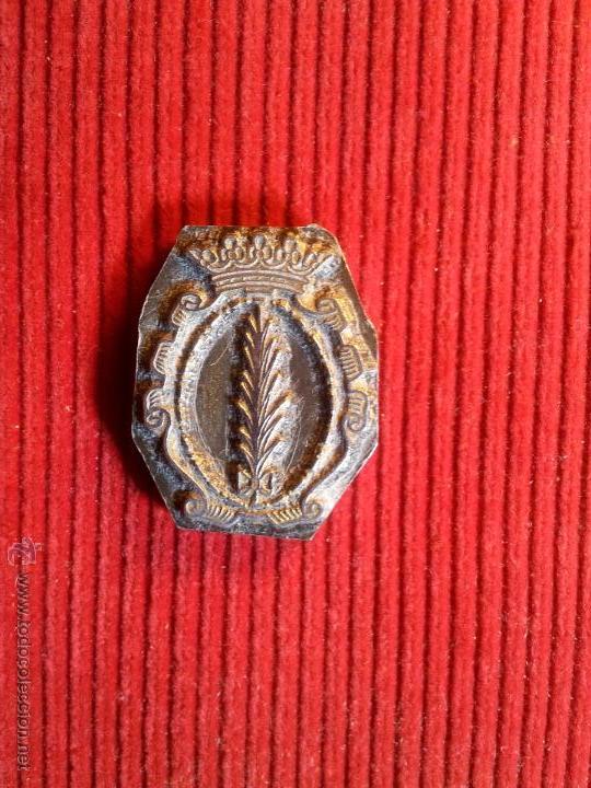 Antigüedades: ANTIGUO TAMPON SELLO TIPOGRAFICO IMPRENTA..escudo palma de ebro ..TARRAGONA - Foto 2 - 53488231