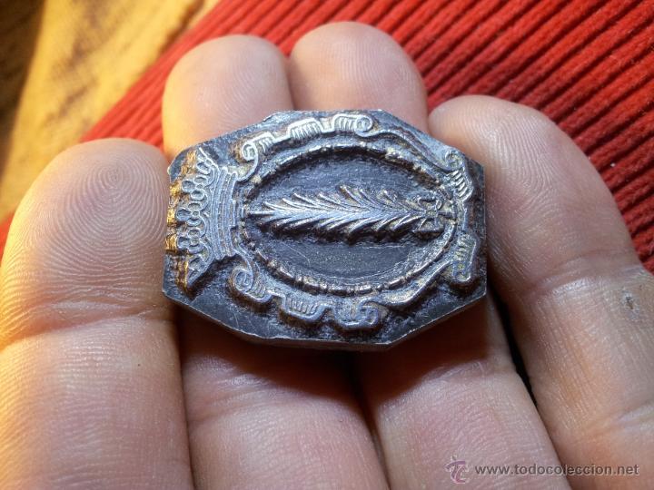 Antigüedades: ANTIGUO TAMPON SELLO TIPOGRAFICO IMPRENTA..escudo palma de ebro ..TARRAGONA - Foto 8 - 53488231