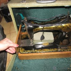 Antigüedades: MÁQUINA DE COSER SINGER CON MOTOR. Lote 53532119