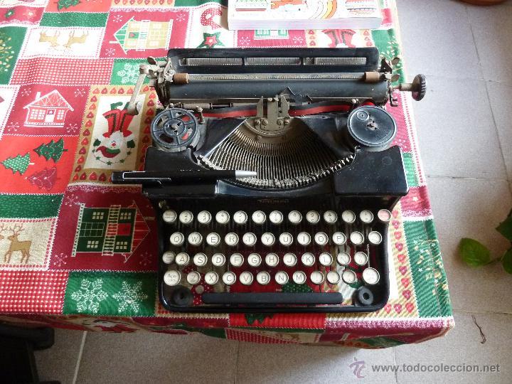 Antigüedades: maquina antigua marca trumph - Foto 3 - 148562610
