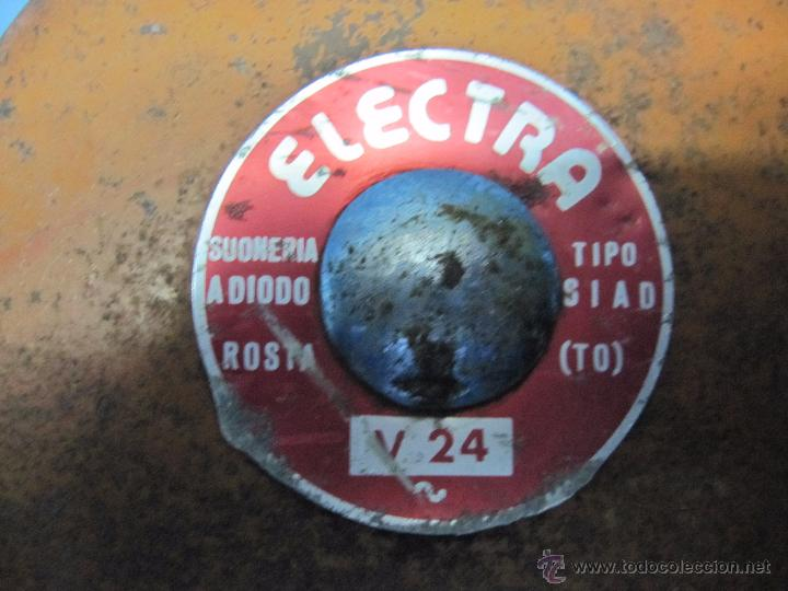 Antigüedades: ANTIGUO TIEMBRE FABRICA V 24 ELECTRA TIPO S.I.A.D MADE ITALY - Foto 2 - 53596205