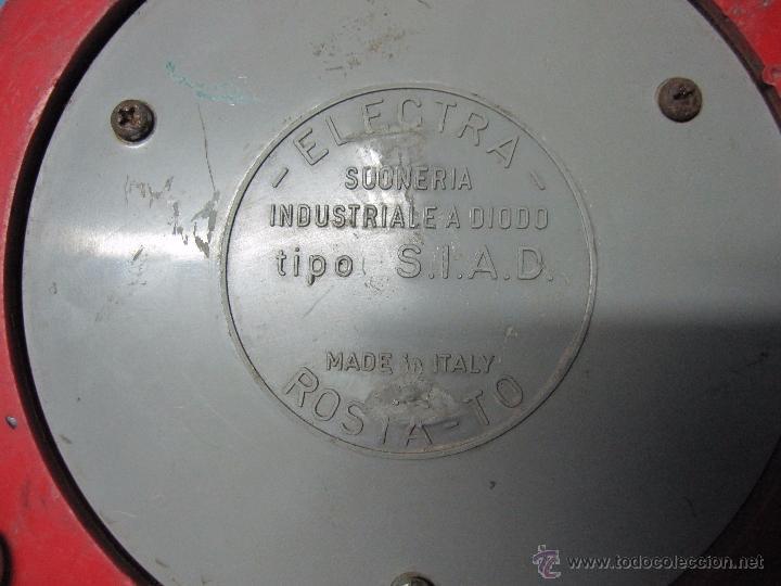 Antigüedades: ANTIGUO TIEMBRE FABRICA V 24 ELECTRA TIPO S.I.A.D MADE ITALY - Foto 5 - 53596205