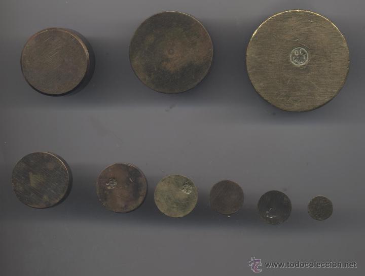 Antigüedades: JUEGO DE PESAS - Foto 9 - 9290911