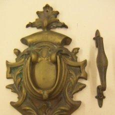 Antigüedades: VIEJO LLAMADOR DE BRONCE. Lote 53642894
