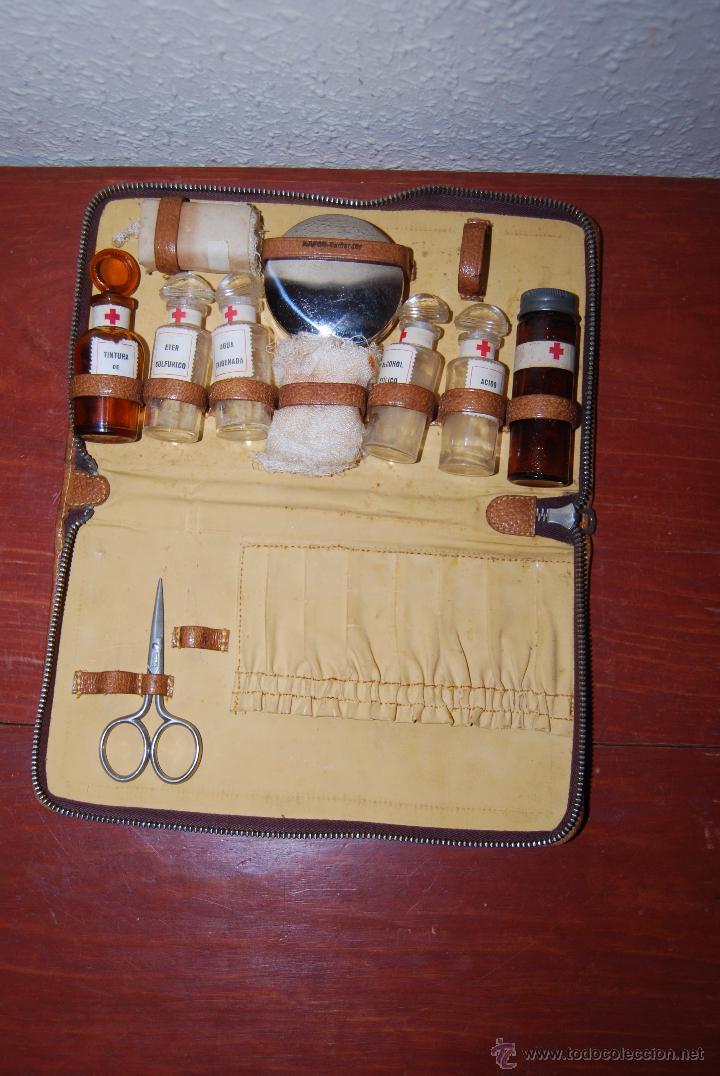Antiguo botiqu n de viaje estuche s mil piel comprar herramientas profesionales medicina en - Botiquin antiguo ...