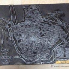 Antigüedades: GRABADO EN PLANCHA METÁLICA DEL PLANO DE TOLEDO (AÑOS 70). Lote 52438444
