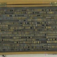 Antigüedades: CAJA IMPRENTA. LETRAS DE PLOMO. E. MAUGARS PARÍS. TINTA TAMPÓN SUPERIOR MADRID C PRECIADOS. Lote 53675479