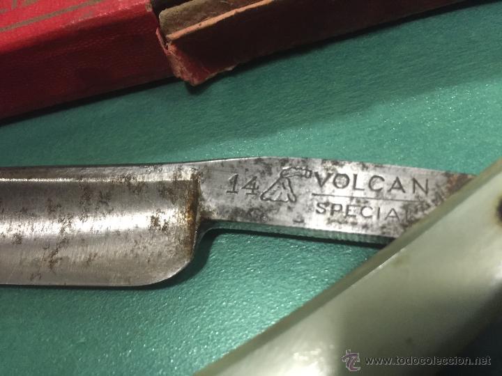 Antigüedades: antigua navaja de afeitar el volcan especial en su caja original - Foto 4 - 53682029