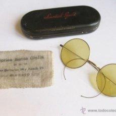 Antigüedades: ANTIGUAS GAFAS DE SOL CON CAJA DE LATA. LUXTAL SPORT.. Lote 53732208