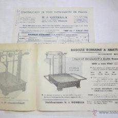 Antigüedades: BASCULAS GONELLA CATALOGO DE 1950. Lote 53744566