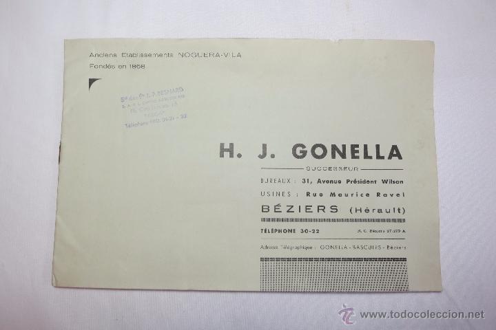 Antigüedades: Basculas Gonella catalogo de 1950 - Foto 2 - 53744566