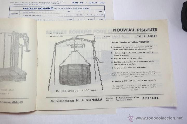 Antigüedades: Basculas Gonella catalogo de 1950 - Foto 3 - 53744566