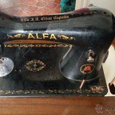 Antigüedades: MÁQUINA DE COSER ALFA SUPER PRECIO. Lote 53762583