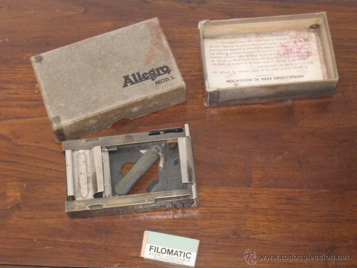 AFILADOR DE CUCHILLAS ALLEGRO MODELO L (Antigüedades - Técnicas - Barbería - Varios Barbería Antiguas)