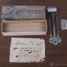 Antigüedades: AFILADOR DE CUCHILLAS TREBOL, BARCELONA.. Lote 53778956